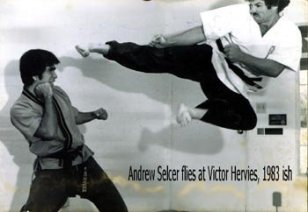 Andy Celser flying jump kick to Victor-nice